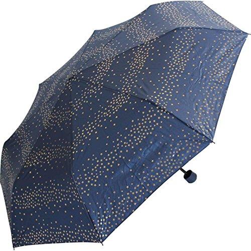 Esprit Super Mini Regenschirm Taschenschirm Milky Way mit goldenen metallic Sternen