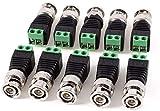 Screw Terminal Coax Cat5 Cat6 to BNC Male Video Balun Connector Adapter 10 Pcs