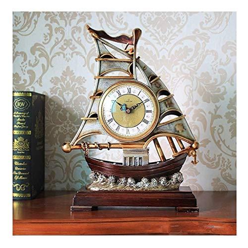 SOAR Tischuhren Persönlichkeit Kreative Uhr Uhr Pendeluhr Wohnzimmer Uhr Uhr TV Sailboat Ornaments Tischuhr Europäische Uhr Startseite im Freien