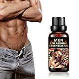 ONERIKOA Aphrodisiac Essential Oil Synergy Blend, Male Sensual Massage Oil, Energy Massage Essential Oil for Sex ENLARGING Essential Oil Men's Sexual Long Lasting Essential Oil 30ML Black