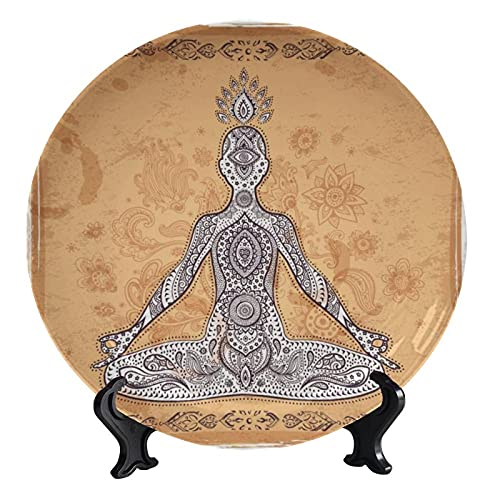 Wonderr - Platos decorativos con diseño de mandala de loto, plato decorativo...
