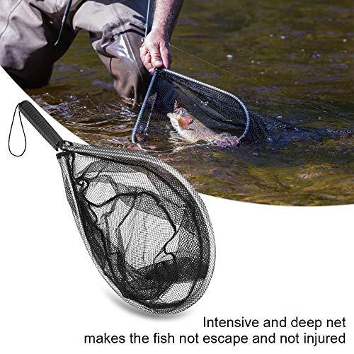 Visnet visschepnet, groot vang- en vangnet met comfortabele grip voor het vliegen en kajakken.