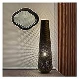 Lampara de pie Lámparas de pie de tejido de bambú para sala de estar Dormitorio de noche Estudio de estudio Decoración LED Lámpara de pie moderno Casero de familia Sala de té Lámpara de pie Decoración