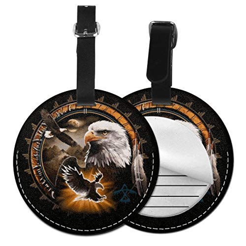 Etiquetas para Equipaje Bolso ID Tag Viaje Bolso De La Maleta Identifier Las Etiquetas Maletas Viaje Luggage ID Tag para Maletas Equipaje Nativo Americano Indio American Eagle