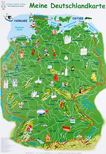 Meine Deutschlandkarte: Lernposter, 32 x 46 cm, glänzend, 300g
