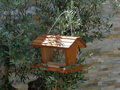 vogelhaus mit ständer BEL-X-VOFU2G-MS-dbraun002 Großes PREMIUM Vogelhaus mit ständer + 3D-Riesensilo / Futterschacht Futterautomat MASSIV + WETTERFEST, QUALITÄTS-SCHREINERARBEIT-aus 100% Vollholz, Holz Futterhaus für Vögel, MIT FUTTERSCHACHT Futtervorrat, Vogelfutter-Station Farbe braun dunkelbraun behandelt / lasiert schokobraun rustikal klassisch, Ausführung Naturholz, mit KLARSICHT-Scheibe zur Füllstandkontrolle - 6
