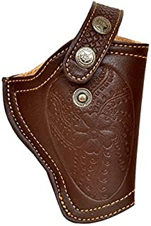 Snipper PU Leather .32 Bore Engraved Pistol Brown Free Size Clip Cover