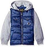 iXtreme Baby Boys' Ripstop Puffer with Fleece Hood, Navy, 12 Months