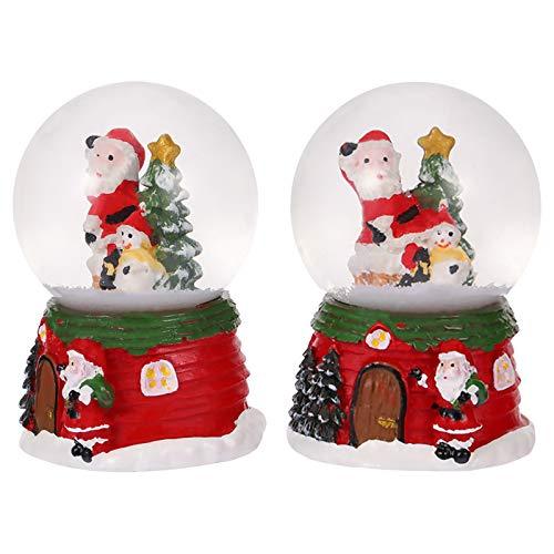 SOIMISS 2Pcs Criativos Globos De Neve De Natal Resina Bolas De Cristal Ornamento