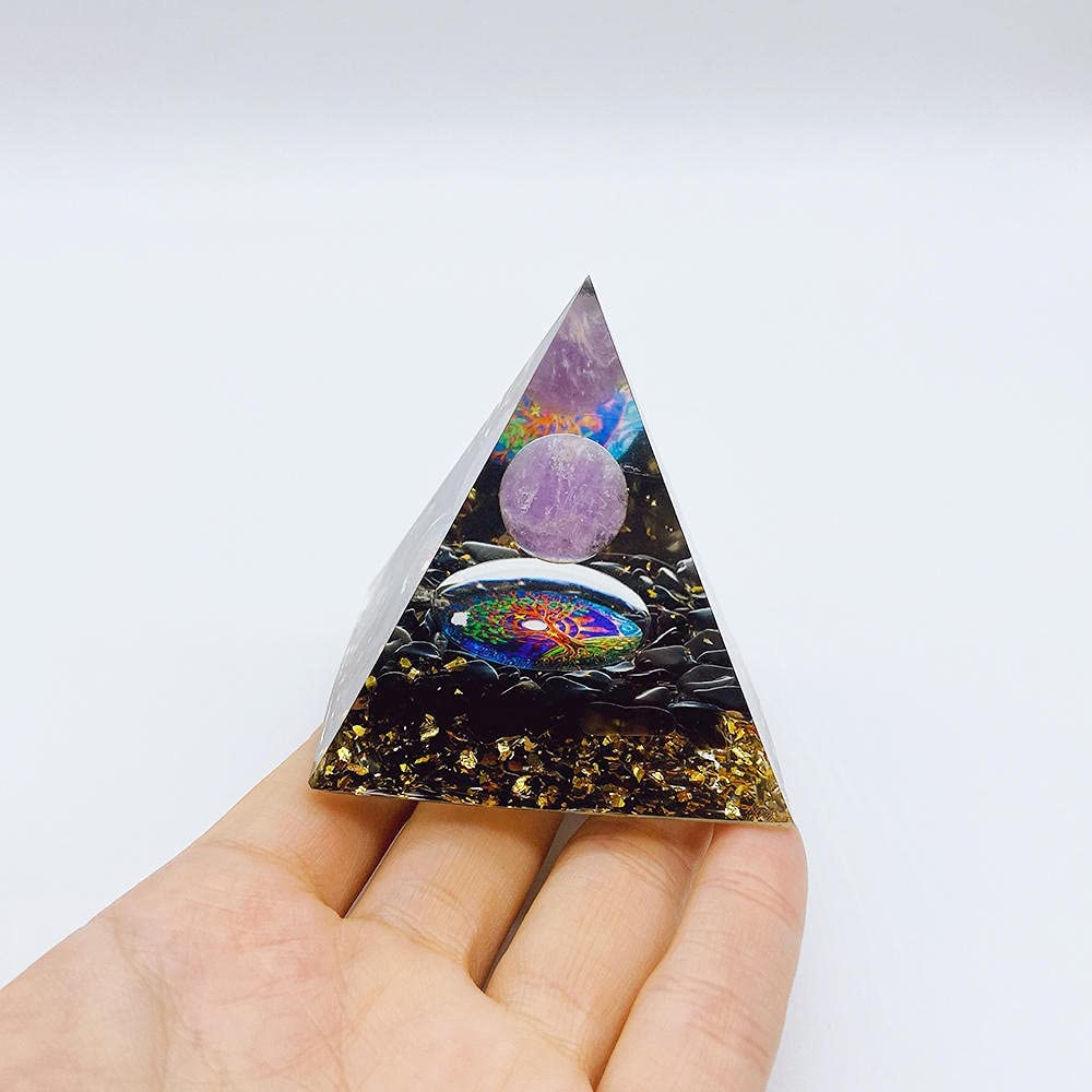 Regular store WSXA 6cm Orgonite Pyramid Natural low-pricing Crystals Lapis Lazuli Amethyst
