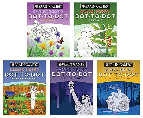 Brain Games 5 Booklet Set - Large Print Dot to Dot