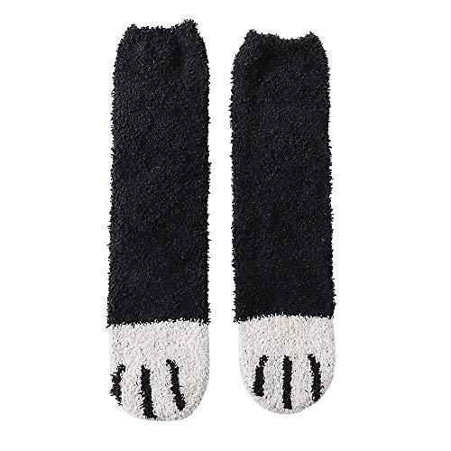 Amazing Deal GOTOCO. Lovely Winter Warm Women Slipper Socks, Super Fleecy Sleeping Socks Cozy Cat Cl...
