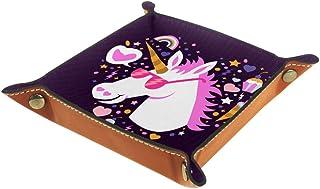 Desheze Licorne Mignonne (82) Boîte de Rangement Pliable Stockage Boîte Maquillage Bijoux Jouets Papeterie Organisateur Pe...