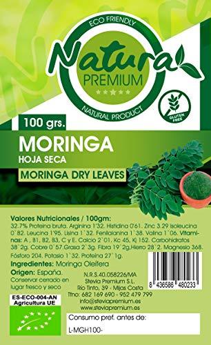 Natura Premium Moringa - Hoja Seca, 100g, Pack de 1