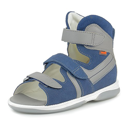 Memo Honos Orthopedic Corrective Ankle Brace Sandal, Blue, 36 (4.5 M US Big Kid)