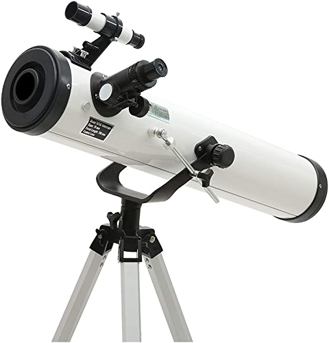 YJWOZ Réfracteur astronomique de 76 mm, pour Gamme de Smartphones et télécomhommede pour appareils Photo bleutooth pour Adultes et débutants télescope