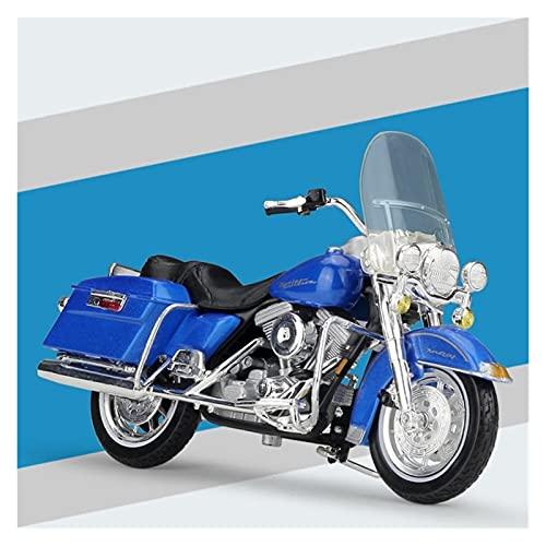 El Maquetas Coche Motocross Fantastico 1:18 Motocicleta De Aleación De Simulación En Miniatura Para Harley 1997 FLHR Road King Modelo Colección De Adultos Regalo Coche De Juguete Regalos Juegos Mas Ve