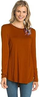 12 Ami Plain Solid Basic Long Sleeve T-Shirt Top (S-XXXL) - Made in USA