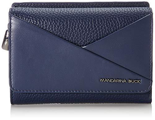 Mandarina Duck Damen Athena Portafoglio Geldbeutel, Blau (Dress Blue), 13.5x9.5x3.5 Centimeters