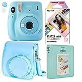 Fujifilm Instax Mini 11 Polaroid Ice Blue Instant Camera Plus Original Fuji Case, Photo Album and Fujifilm Character 10 Films (Macaron)