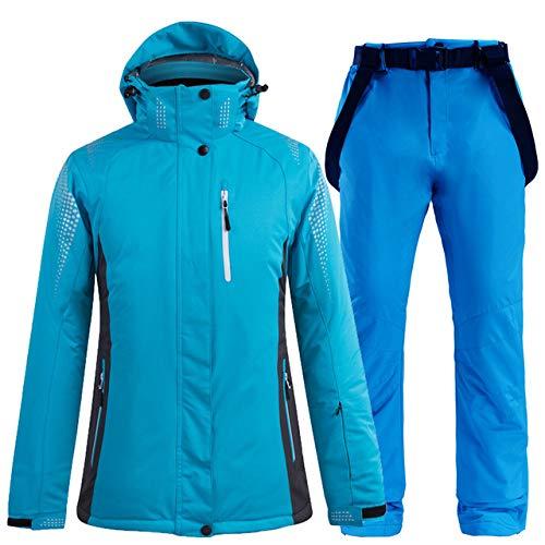 YRFDM Combinaison de Ski,Nouvelle Femme épais Chaud Combinaison de Ski imperméable Coupe-Vent Ski et Snowboard Veste Pantalon Ensemble de vêtements de Plein air Femmes Costumes de Neige, color11, XXL