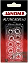 Janome Genuine 10 Pk. Plastic Bobbins #200122614 for All Janome & Necchi Models