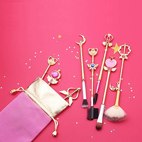 Best Quality - Makeup Brushes set - Hot Makeup Brushes Set Sailor Moon Cosmetic Kit Pincel Maquiagem Beauty Tools Kit Eye Liner Shader Eyebrow Soft Synthetic Hair - by Olwen Shop