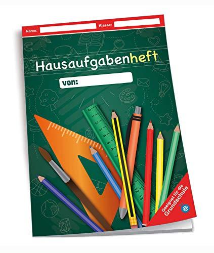 Trötsch Verlag  201748 - Hausaufgabenheft DIN A5 für die Grundschule, Tafel grün, 96 Seiten, mit extra starkem Klarsichtumschlag