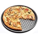 Andifany Bandeja para Hornear Pizza Antiadherente de Acero Al Carbono 32Cm Soporte para Platos de Plato de Pizza Utensilios para Hornear Hogar Cocina Herramientas para Hornear Accesorios