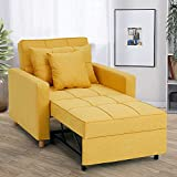 YODOLLA 3-in-1 Sofa Bed Chair, Convertible Sleeper Chair Bed,Adjust Backrest...
