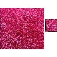 3Dフリル サテン デコレーション ファブリック 1ヤード (約90×130cm) 9色展開(Fuchsia,1ヤード90×130cm)[15_Ni1660754408]