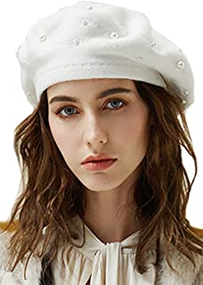 32315dea5 Amazon.com: ladies White Beret
