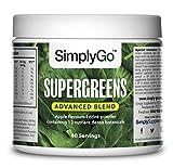 Super Greens Fórmula Avanzada - Polvo vegetal sabor manzana - 40 Raciones - Incluye inulina, col rizada, trigo y espirulina - SimplySupplements