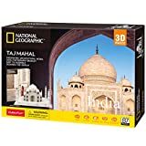CubicFun National Geographic 3D Puzzle for Adults Kids Taj Mahal India Architecture 3D Jigsaw Building Model Kit with Booklet Gifts for Woman Men, 87 Pieces