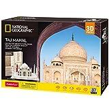 CubicFun National Geographic Puzzle 3D Taj Mahal, con Folleto de Fotografía Magnífica, 87 Piezas