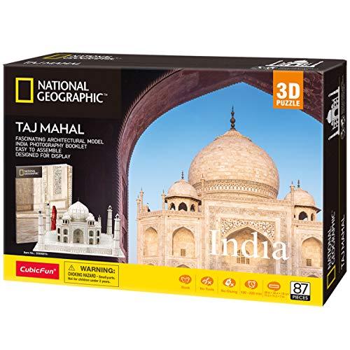 CubicFun Puzzle 3D India Taj Mahal con National Geographic Libretto di Fotografia, 87 Pezzi