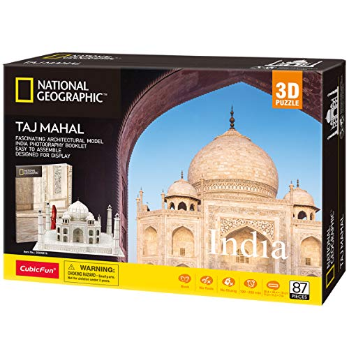 CubicFun National Geographic 3D Puzzle for Adults Kids Taj Mahal India...