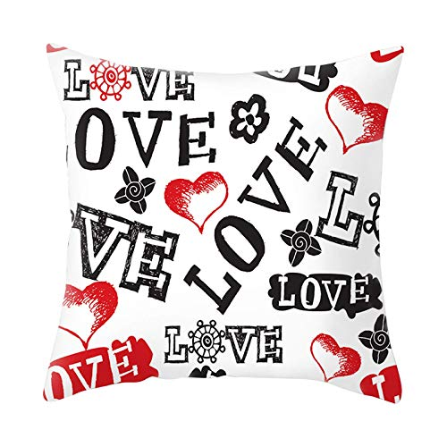 Caja de almohada del día de San Valentín Romántico impreso Funda de almohada Glitter Sofá CUBIERTA CUBIERTE CUBIERTA CUBIERTE CUBIENCIA CUBIERTE SOBREVIVIDO SOBREVIVIDO FAMILIA FERMAS DE ALIMENTACIÓN