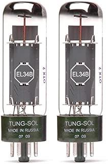 Pair of Tung-Sol EL34B New Production Power Vacuum Tube