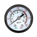 Pusokei Manometro del compressore d'Aria, 0-180PSI Manometro del compressore d'Aria Misuratore di Pressione dello Strumento a Conchiglia in Ferro