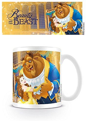 Schöne und das Biest - Tale As Old As Time - Disney Keramik Tasse Kaffeebecher - Größe Ø8,5 H9,5cm