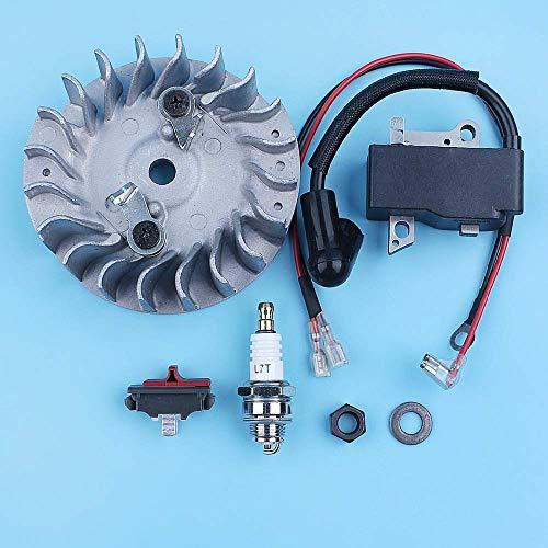 HaoYueDa Kit de reparación de bujía de Interruptor de Apagado de Bobina de Encendido del Volante Compatible con Motosierra Husqvarna 450 Rancher 445 445e 544111801 Repuesto