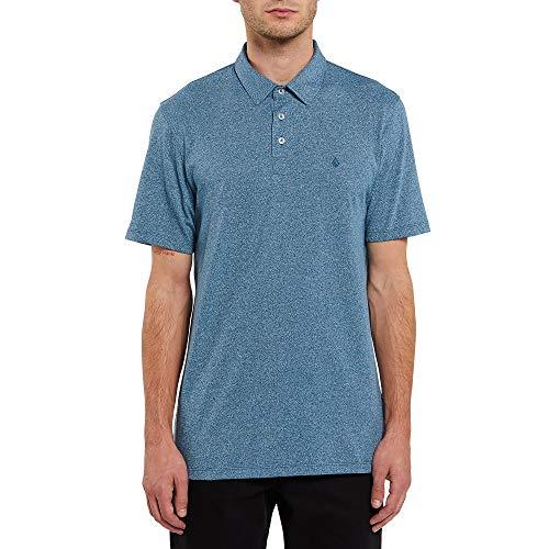 Volcom Wowzer Camisa de Polo, Azul Rincón, M para Hombre