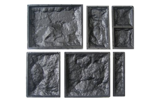 Wandverkleidung - 6 Schalungsformen für Klinker - Schalung, Kunststoffform - Wandklinker - Betonform - 6teiliges Set