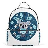 Bonita mochila con diseño de koala para mujer, chica, estudiante, de moda, colegio, viajes, escuela, bolsa pequeña