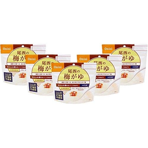 尾西食品 アルファ米 乾燥がゆ梅がゆ42g×5食
