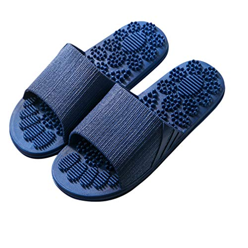 Holibanna Slip On Slippers Summer Bathing Massage Flip Flops Anti-slip Shower Beach Pool Sandals for Men