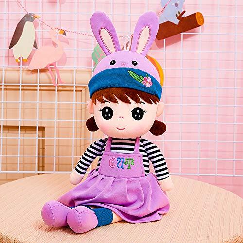 46/60/80 cm Juguete de Felpa Grande Linda muñeca de Tela Flor Hada niña Princesa muñeca pequeña niños Regalo de cumpleaños muñeca 80 cm púrpura