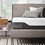 LUCID 10 Inch Hybrid Mattress - Bamboo Charcoal and Aloe Vera Infused Memory Foam - Moisture Wicking - Odor Reducing, Queen