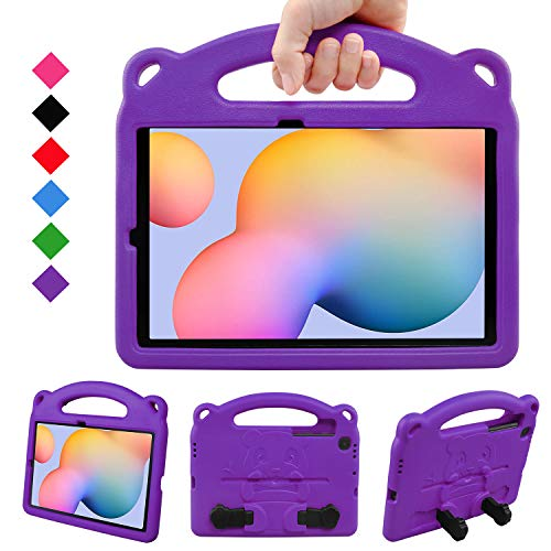 BelleStyle Kids Case for Galaxy Tab S6 Lite 10.4 2020, Shockproof Protective Case Kids Friendly Handle Stand Panda Cover for Samsung Galaxy Tab S6 Lite 10.4 Inch SM-P610/P615 2020 Released, Purple